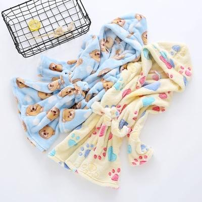 冬季宝宝浴袍