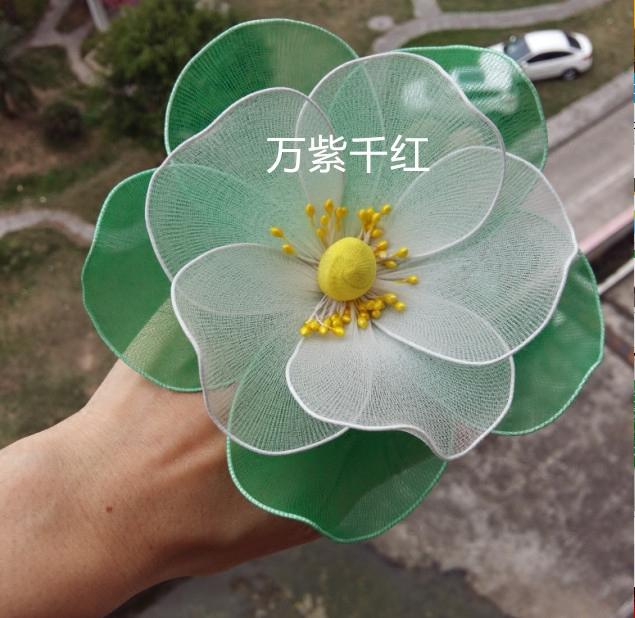 舞蹈道具用品仿真丝袜丝网茉莉花成品可做手腕花手指花手拿花头花