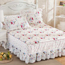 Every day special price is sent to the same pillowcase, South Korean pure cotton bedspread, bed skirt, bed sheet, bed skirt, 1.8/1.5/ meter bag.