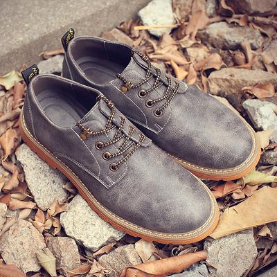 大码男鞋子45休闲46马丁靴低帮复古47英伦风大头皮鞋工装潮鞋48土