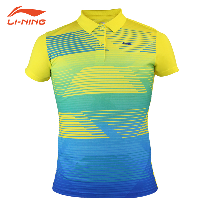 正品李宁羽毛球服 速干透气吸汗男女款情侣上衣 短袖比赛运动服