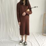 针织ins风坑条连衣裙  0.63KG