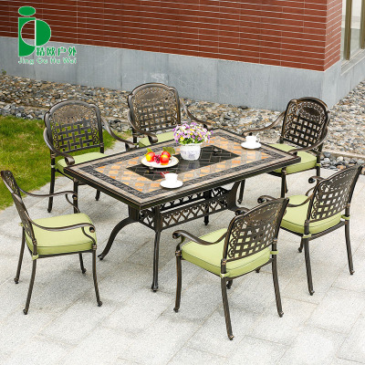 精欧户外  庭院花园阳台铸铝烧烤桌椅 室外露台铁艺桌椅家具组合口碑如何