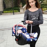 Beredi baby basket car child safety seat newborn baby car portable car cradle