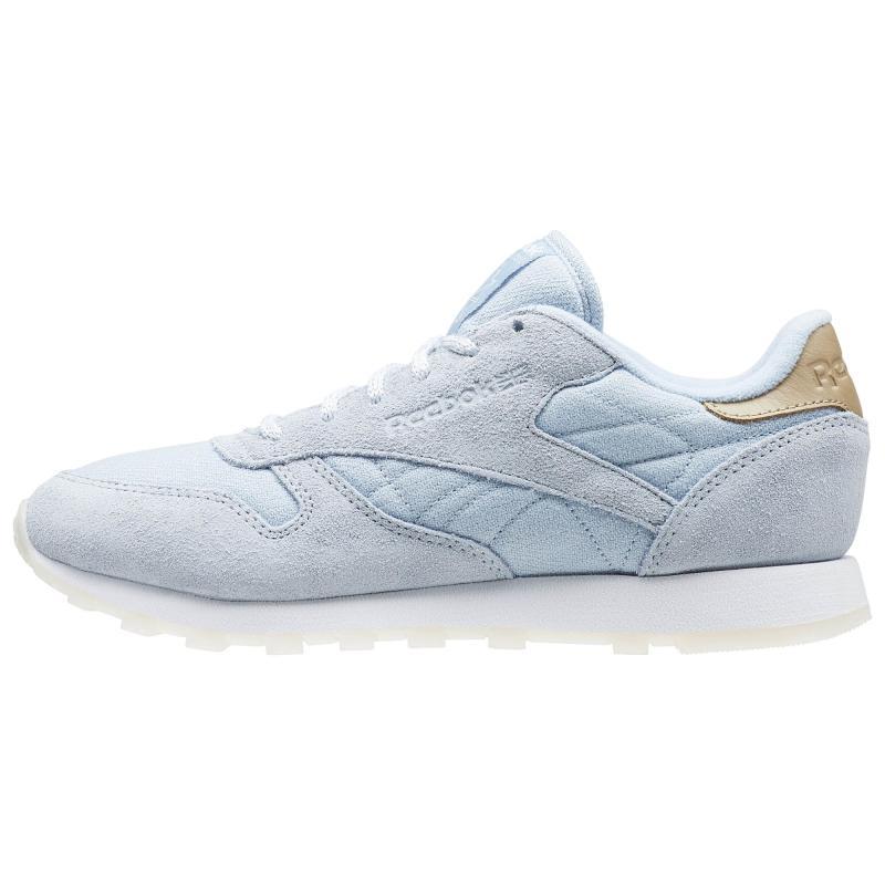 Reebok/锐步女鞋板鞋休闲鞋经典磨砂皮系带小蓝鞋BD1510美国直邮