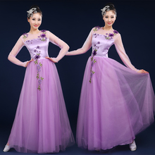 New Grand Chorus Dresses, Dresses, Long Skirts, Modern Opening Song and Dance Dresses, Adult Female Dance Dresses