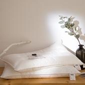 包邮 出口型柔软超薄超柔护颈枕低枕颈椎保健单人枕头枕芯一对装