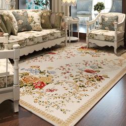 众弘地毯客厅茶几地毯 雪尼尔 卧室床边 欧式田园长方形 可机洗