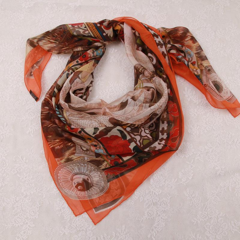 布达拉宫真丝围巾