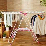 翼型晾衣架落地折叠家用阳台凉挂衣架儿童宝宝尿布被子室内晾晒架