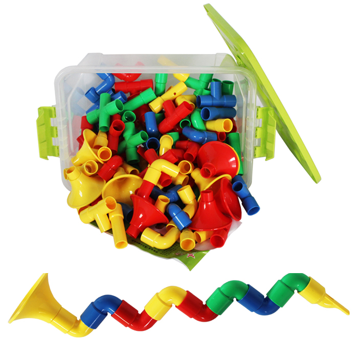 潜力喇叭积木塑料拼插儿童拼装宝宝益智玩具桌面启蒙智力早教玩具5元优惠券