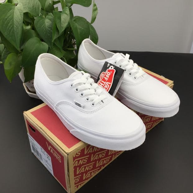 VANS经典款女鞋范斯男鞋小白鞋情侣帆布低帮Authentic VN-0EE3W00