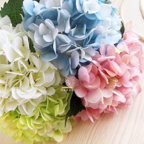 47cm长枝绣球花 落地花瓶仿真花装饰品摆件 创意摆饰客厅简约花艺