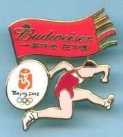 2008 Beijing Olympics Budweiser Beer Chapter Badge Athletics