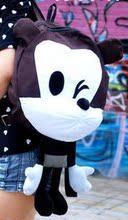 可爱卡通米奇帆布双肩包中学生书包背包潮女包 包邮 韩版 2014新款