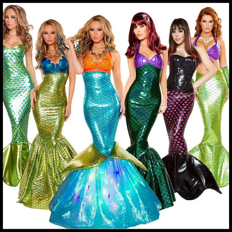 成人角色扮演美人鱼万圣节胸礼服公主裙