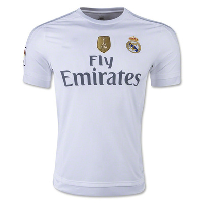 Real Madrid 15/16 home jersey with fifa patch 100% same fans