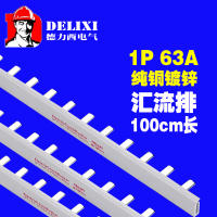 Delixi air switch 1P63A bus bar single input single output copper row dz47 single chip switch bus