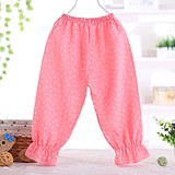 Autumn and winter baby bottom casual cotton pajamas girl son's children's pants lantern long pants children's anti-mosquito pants thin