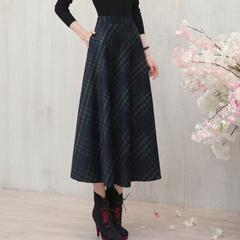 秋冬羊毛呢长裙