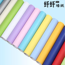 Thick solid color wallpaper plain self-adhesive candy color matte Boeing film furniture renovation stickers frosted waterproof stickers