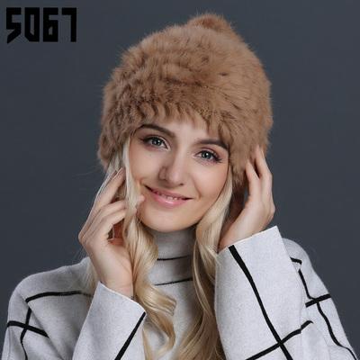 兔毛皮草帽子女冬天韩版秋冬季百搭潮韩国保暖护耳针织毛线帽女士