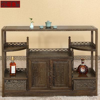 红木茶水柜 中式明清仿古实木餐厅多功能鸡翅木餐边柜储物柜