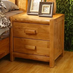 纯柏木实木床头柜 原木床头柜简约床头柜储物柜床边柜木头小柜子