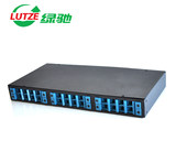 LUTZE green 25-port rack-mount universal fiber optic terminal box cable pigtail splice wiring box