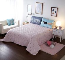 北欧宜家全棉床盖三件套纯棉双层夹棉加厚绗缝被床罩床单床垫单件