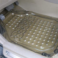 Front row single-chip increase thick crystal transparent General Motors latex waterproof pad PVC plastic pad non-slip