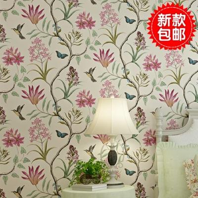 背景墙花藤墙纸