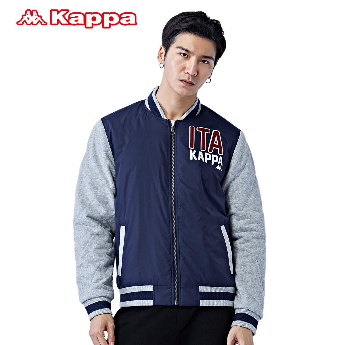 Kappa 男款运动外套夹棉服 运动夹克 拼色外套|K0552MJ12