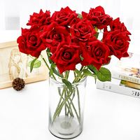 Special offer single simulation rose bouquet high-grade silk flower wedding living room coffee table decoration fake flower placement flower