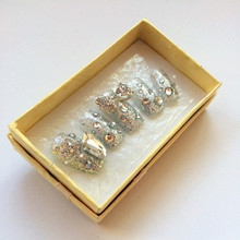 成品 贴片 银简约 免邮 美甲 订做甲片 假指甲 新娘 日常款