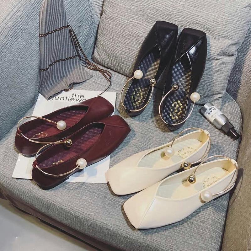 平底鞋_百搭珍珠脚环平底鞋1元优惠券