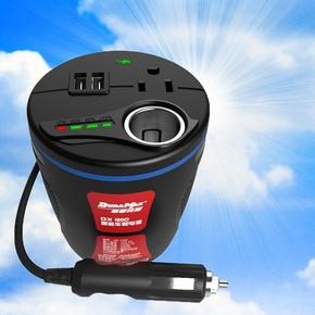 德雷克斯车载逆变器 12V转220V电源转换器点烟器 通用车充一拖二