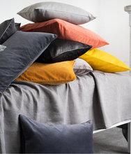 意大利绒纯色简约现代靠枕 沙发大靠垫床上抱枕靠背垫毛绒大靠背
