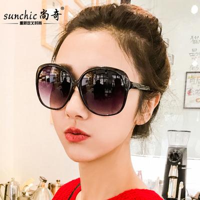 墨镜女潮 2018太阳镜女 圆脸复古眼镜大框时尚个性遮阳镜经典韩版