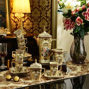 欧式高档茶具套装英式创意陶瓷下午茶花茶咖啡具骨瓷茶壶茶杯整套