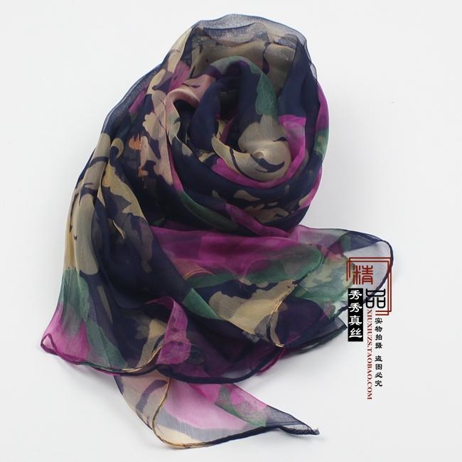 豹纹薄款围巾