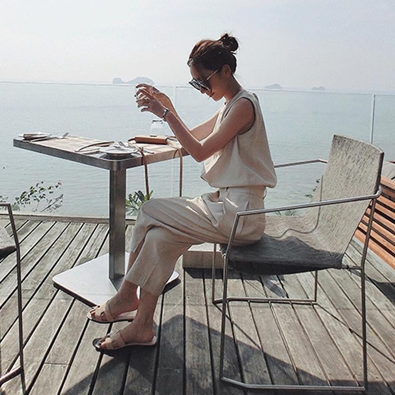 洋气套装女夏装欧洲站时尚潮2017新款女装韩版雪纺时髦休闲两件套