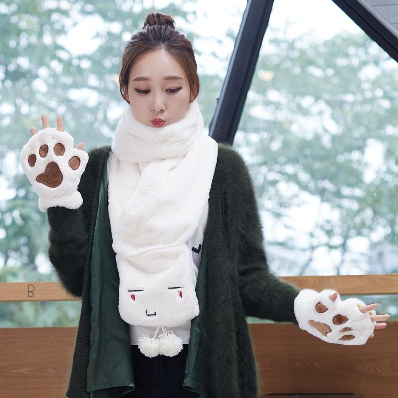 韩国手套可爱