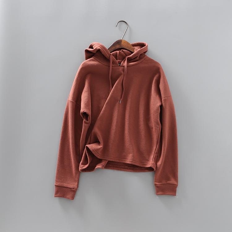 红色纯色卫衣
