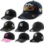 Hat female summer Korean version ny baseball cap travel sunscreen tide youth wild casual male cap letter embroidery