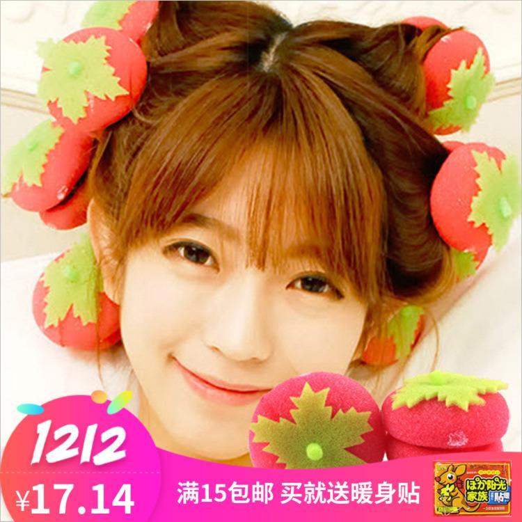 卷头发的家用草莓球睡眠草莓器不伤发做头发的发发海绵草莓器