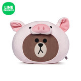 LINE FRIENDS Brown Bear Face Pillow Cushion Jungle Series Dinosaur Pig Squirrel Cartoon Pillow