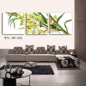 花草 客厅装饰无框画 墙壁挂画 美时美刻 壁画 现代家居画