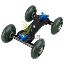 单反相机摄影小车 摄像滑轮车 滑轨小车超静音桌面迷你四轮轨道车