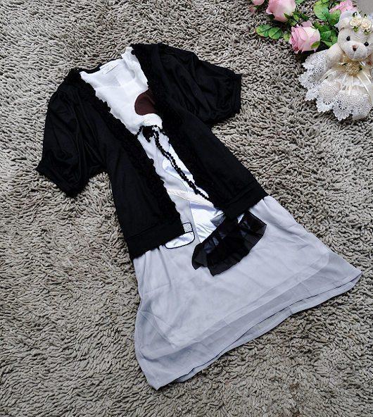 10元包邮女装莫代尔弹力棉开衫小外披黑色百搭开衫短袖外套夏